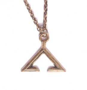 Chevron Pendant Antique Gold Colour inspired by Stargate prop replica